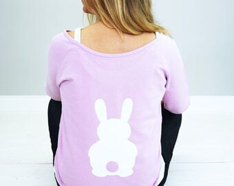 Bunny Sweatshirt Women's - Rabbit Sweatshirt Women's - bunny sweater womens - womens rabbit sweater