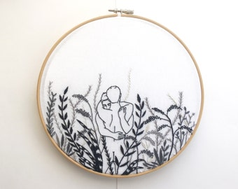 "Embroidery art ""Monochrome"""