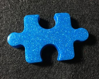 Autism Awareness Puzzle Piece Brooch