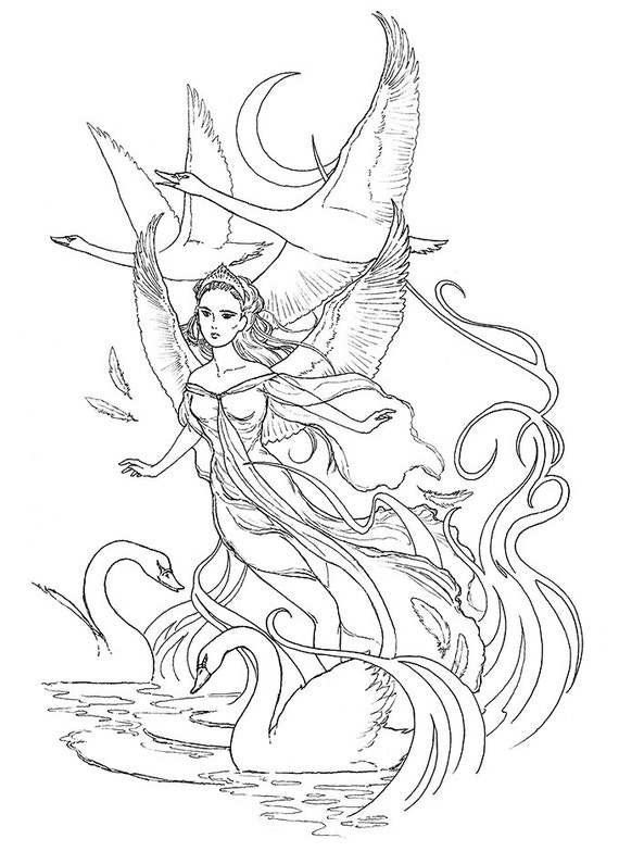 disney swan princess coloring pages - photo#24