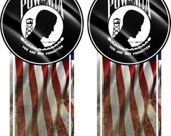 POW MIA American Flag Camo Truck Bed Band Race Stripes Decal Sticker Graphics