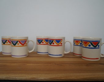 Cups Mugs mobile - geometric patterns