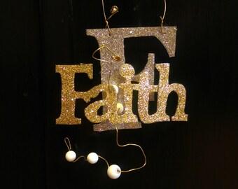 Glitterbit, Faith Hang Tag, Glitter Sign, Custom, Door Tag, Hanging Tag, Faith Encouragement, Faith