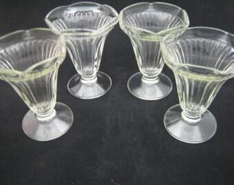 Set 0f Four Fountain Glasses