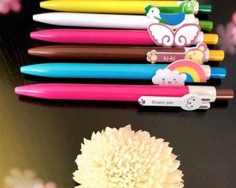 Kawaii MONKEY Ballpoint Pen • Blue Ink • Stationery • School • Office • Gift • Party Favour