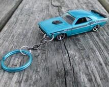 1971 Dodge Challenger blue keychain Dodge fan Dodge Challenger collector  Dodge car Muscle keychain Hot Wheels Challenger, Mens gift