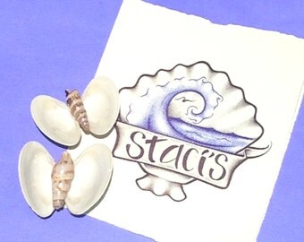 White Butterflies magnets (set of 2)