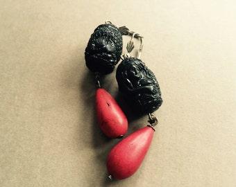 Earrings Rosso e Nero