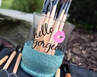 Makeup Brush Holder, Glitter Dipped, Makeup Brush Holders, Hello Gorgeous, Makeup Brush Storage, Makeup Organizer, Makeup Brush Organizer