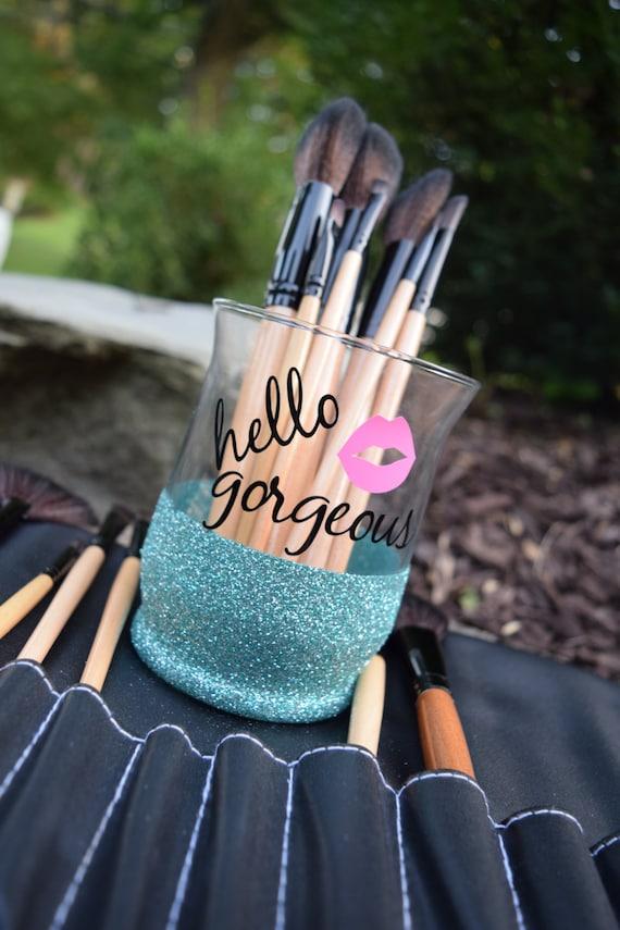 Makeup Brush Holder Glitter Dipped Makeup Brush Holders