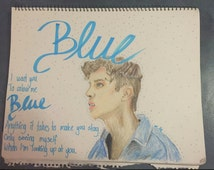 Troye Sivan 'Blue' Poster