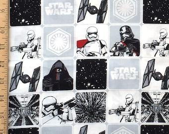Star Wars Fabric, Star Wars VII The Force awakens The Dark Side Fabric, 100% Cotton Fabric by Carmelot Fabrics