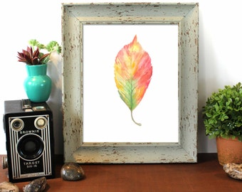 Fall Leaves, Beech Leaf, Painting, Fall Decor, Autumn Leaves, Autumn, Welcome Fall, Colorful Leaves, Autumn Decor, Leaf Watercolor