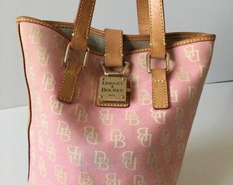 Dooney & Bourke, Bucket Bag, Pink, Signature Logo, Shoulderbag