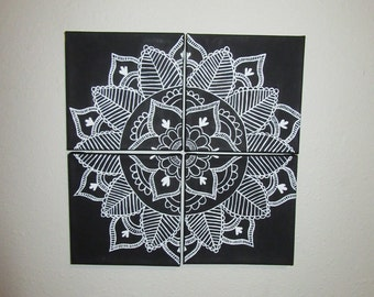 Mandala 4-piece canvas