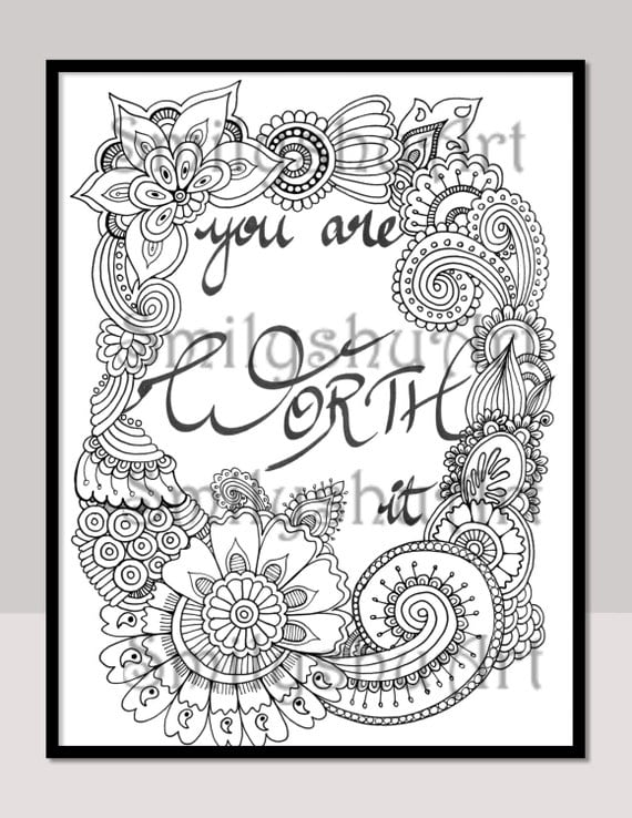 You Are Worth It Printable Quotes DIY Cards by SmilyshuArt