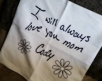 Special Handwritten Pillow Cases