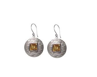 Citrine Earrings 'Golden Sun'