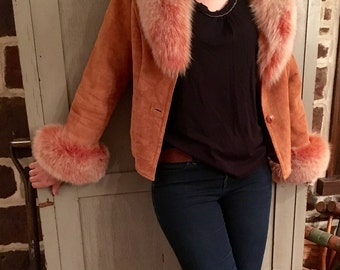 Knoles and Carter Stunning Fur Trimmed Jacket