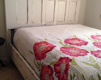 Weathered Door Bed with frame