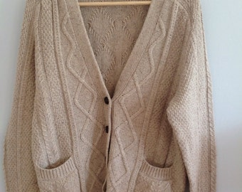 Cotton Aran cable Knit Hobbs NW3 Cardigan
