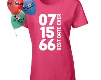 Custom Birthday Shirt, Custom Women's Shirt, Custom Men's Shirt, Customize the Date, Personalized Shirt, Customize Birthday Shirts All Ages