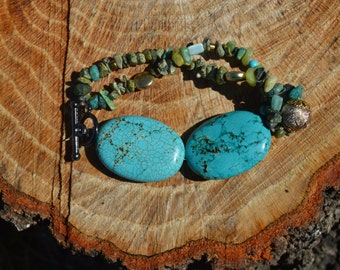 Handmade Turquoise Beaded Bracelet