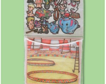 Circus 10 in - story picture pocket, felt board set, flannel board stories for preschoolers, quite toy, church toy, car toy, circus party