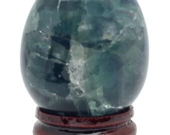 Cosmic Egg Fluorite Super 460 Cts Hand Carved Gemstone Sacred Geometry E362