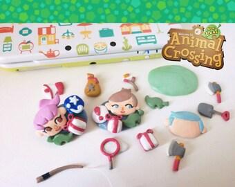 animal crossing new leaf, custom brooch, ooak gift, animal jewelry, animal crossing charm, gift for her, gift for him, custom jewelry