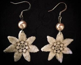 Pretty Poinsettia Lace Earrings