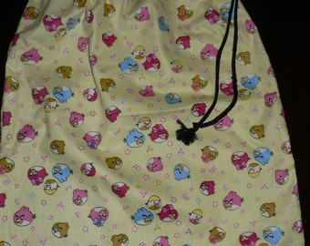 Handmade library bag Angry Birds