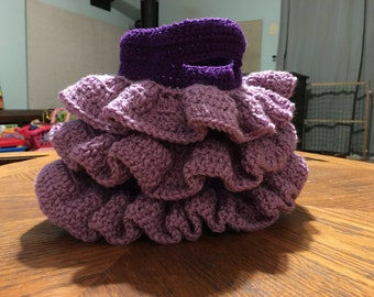 Custom Crochet 3 Ruffle Bag
