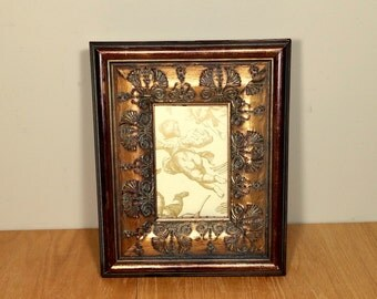 Ornate Tabletop Frame Baroque Wide Gold Standing Picture Frame 4x6