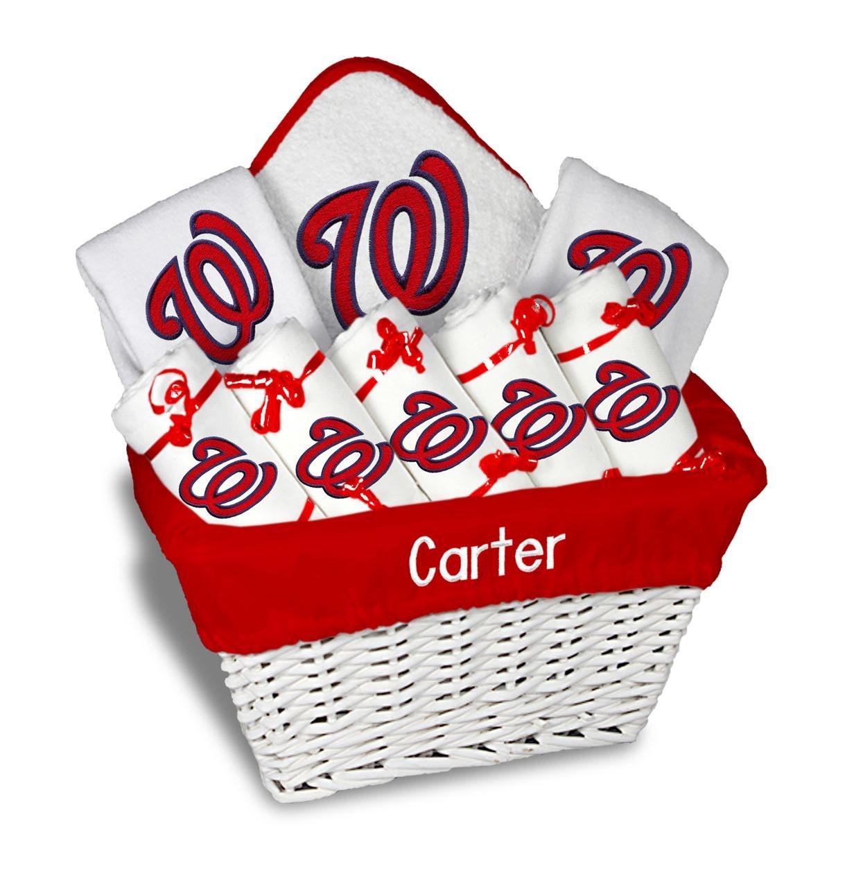 Baby Gift Baskets Wa : Personalized washington nationals baby gift basket bibs