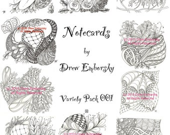 Notecards by Drew Emborsky, aka The Crochet Dude - Variety pack 1