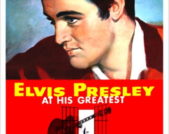 Jailhouse Rock Movie Poster Elvis Profile Colorful Dancing Hips Cool 24x36