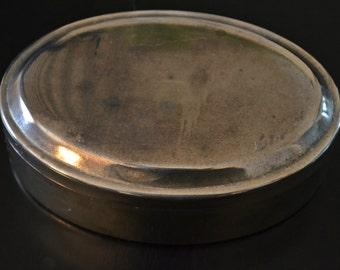 Trinket / Jewelry Box, Silver-Plated
