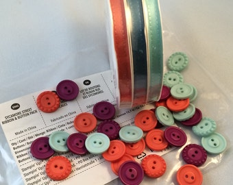 Sycamore Street Ribbon and Button Pack by Stampin Up