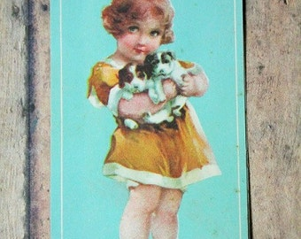 1937 Needle card-Sewing needle card-vintage sewing needle card-Shabby chic decor-Vintage sewing-victorian decor-Sewing room-needle book