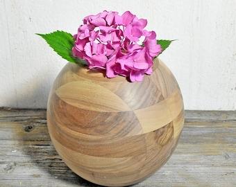 Wooden vase LISETTA