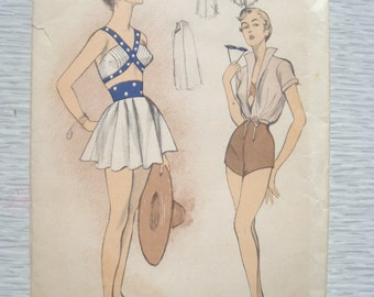 Rare vintage 5516 Advance BATHING SUIT sewing pattern
