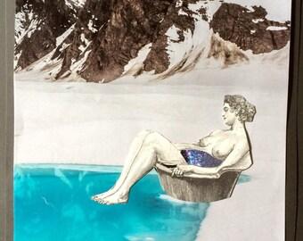 Star Bath in the Snow