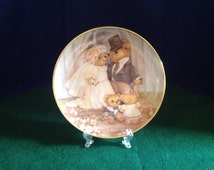 """Franklin Mint """"Just Married"""" Limited Edition Collector Plate"""
