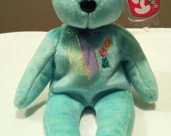 Ariel the Teal Bear Ty Beanie Baby 2000