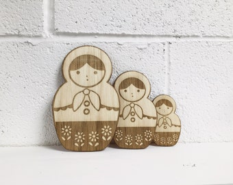 FREE DELIVERY - Russian Doll set of 3
