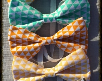 Hipster Style Triangle Bowtie for Boys, Bowtie with Triangles, Bowties for Little Boys, Matching Bowties