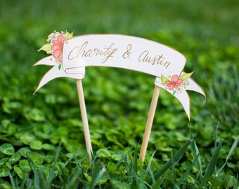 Personalized Banner Cake Topper