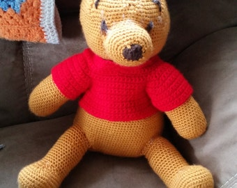 Knitted Stuffed Winnie-the-Pooh
