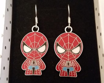 Spiderman Superhero Earrings